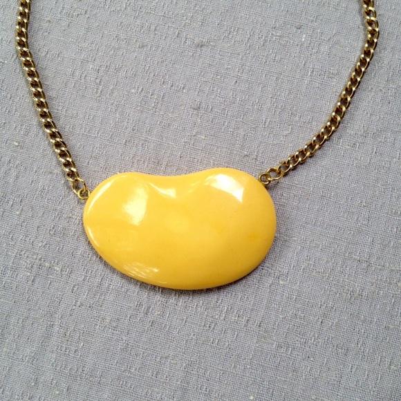 c6f31967b Vintage Butterscotch Bakelite Bean Necklace. M_5d039fd1510bca3a1bbc7062